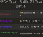 TAFCA Team Battle Website!